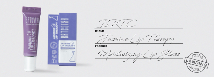 Brtc jasmine lip therapy moisturizing lip gloss