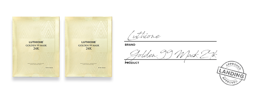 Luthione golden 99 mask 24k