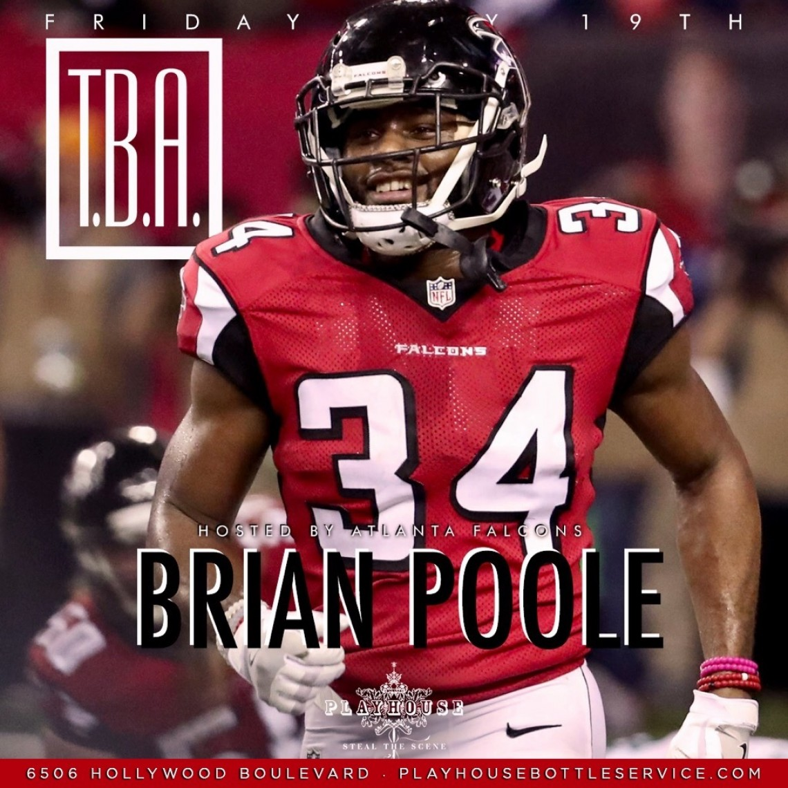 NFL Brian Poole Hosts Playhouse LA