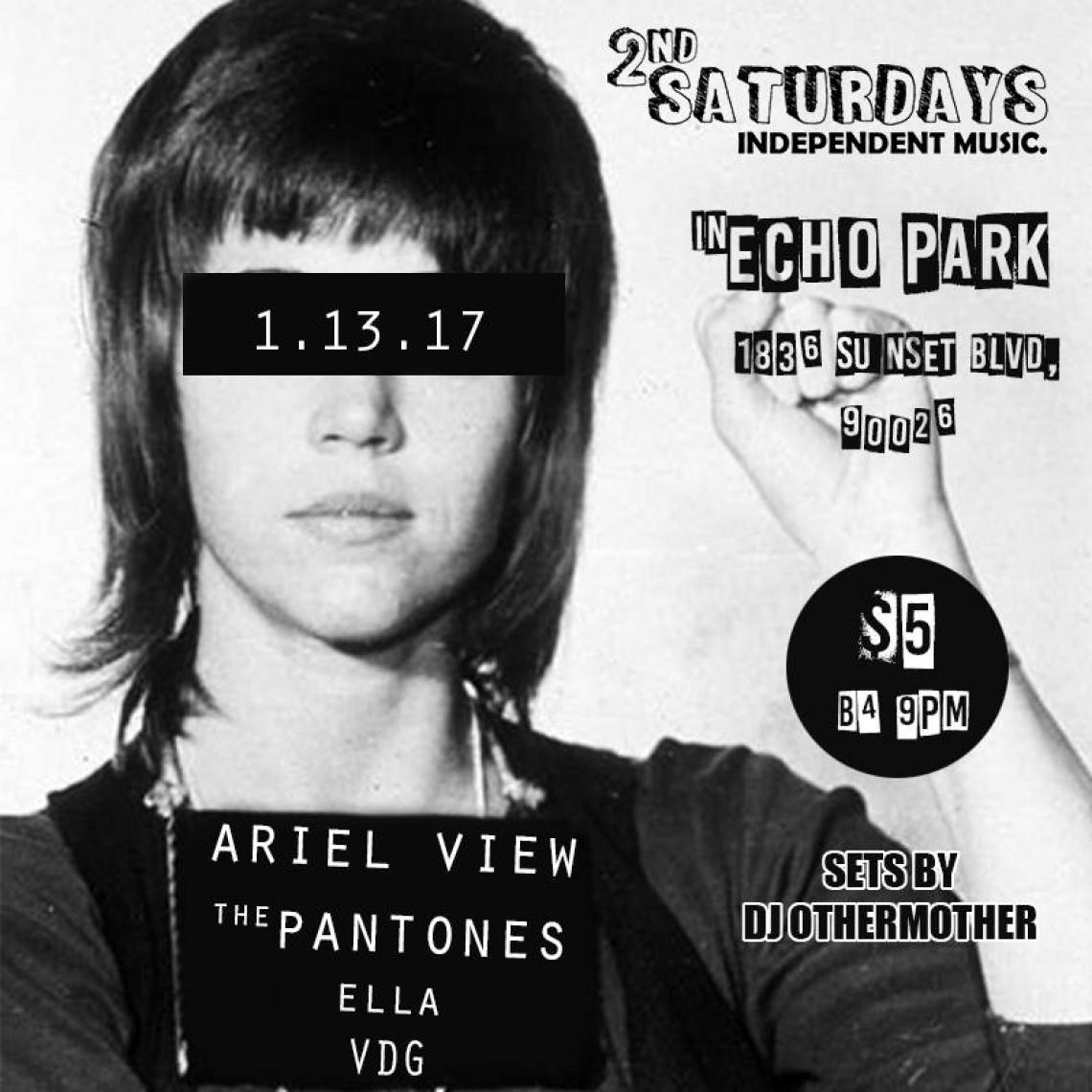 2nd Saturdays: Ariel View, The Pantones, Ella, VDG