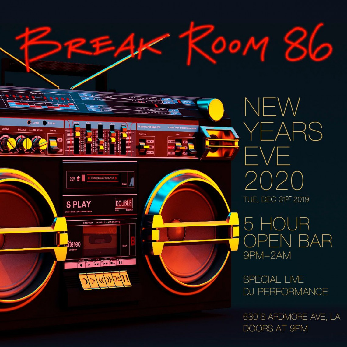 NYE | Break Room 86 New Years Open Bar Tickets
