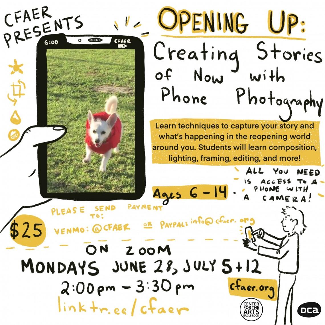 Opening Up: Narrative Phone Photography Workshop