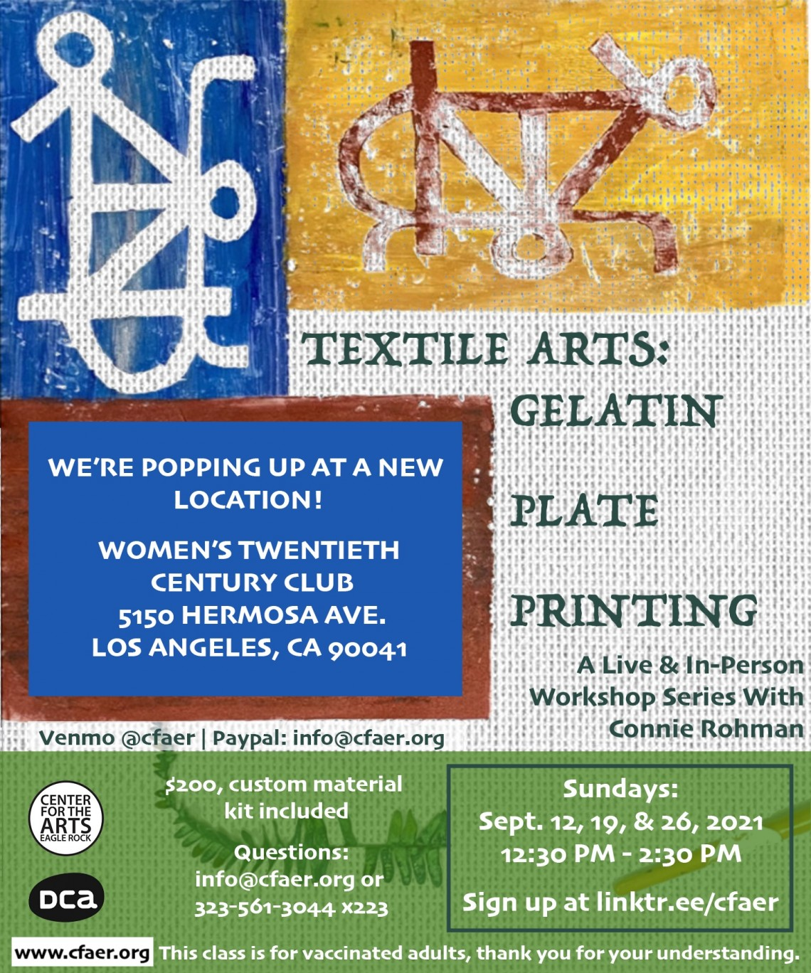 Textile Arts: Gelatin Plate Printing