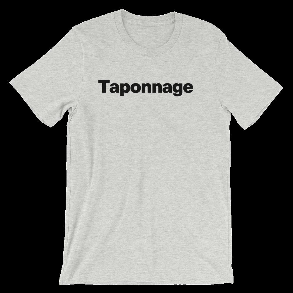 T-Shirt unisexe grisâtre «Taponnage»
