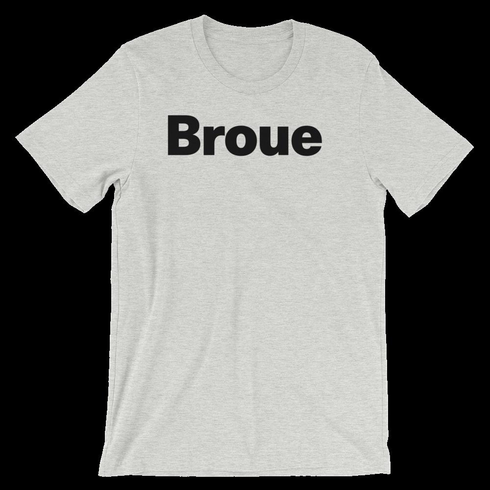 T-Shirt unisexe grisâtre «Broue»