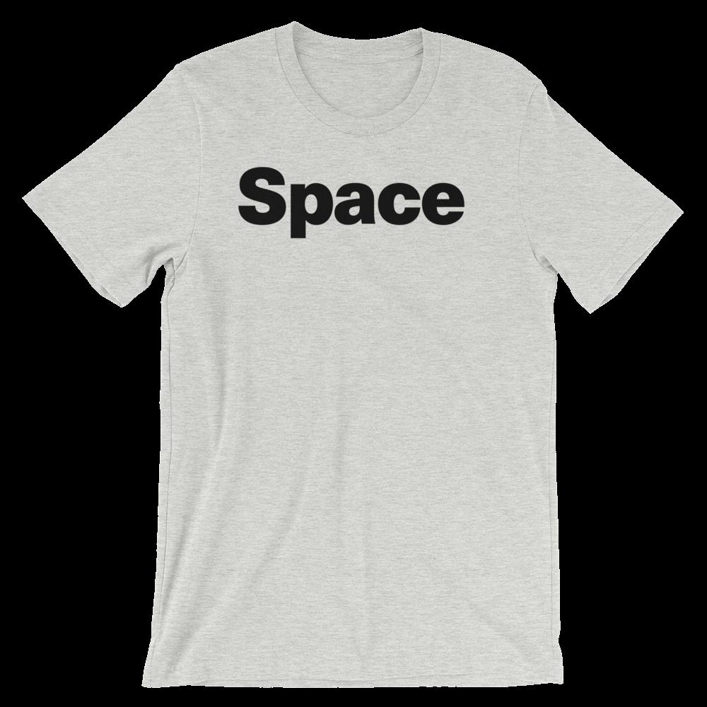T-Shirt unisexe grisâtre «Space»