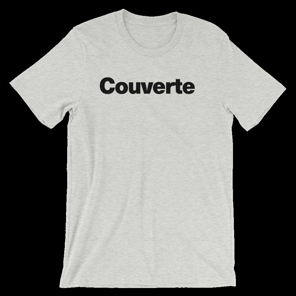 T-Shirt unisexe grisâtre «Couverte»