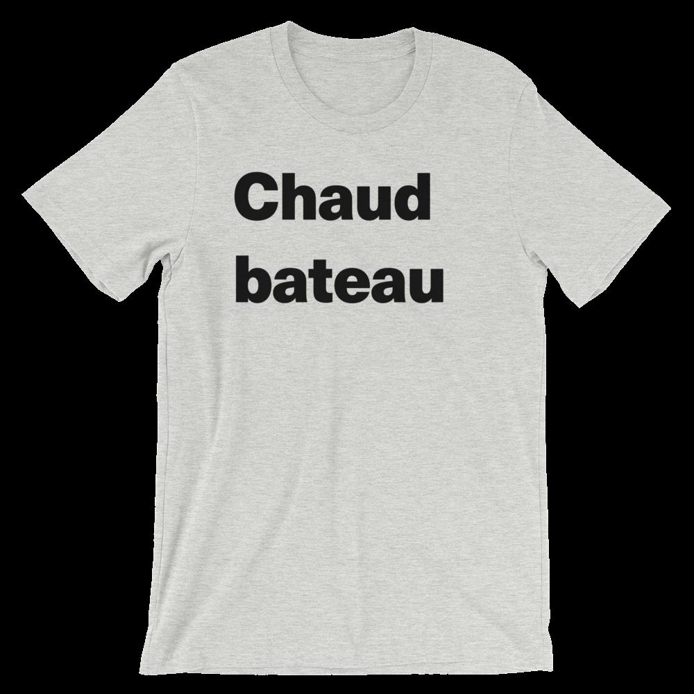 T-Shirt unisexe grisâtre «Chaud bateau»