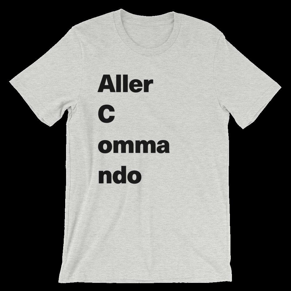 T-Shirt unisexe grisâtre «Aller Commando»