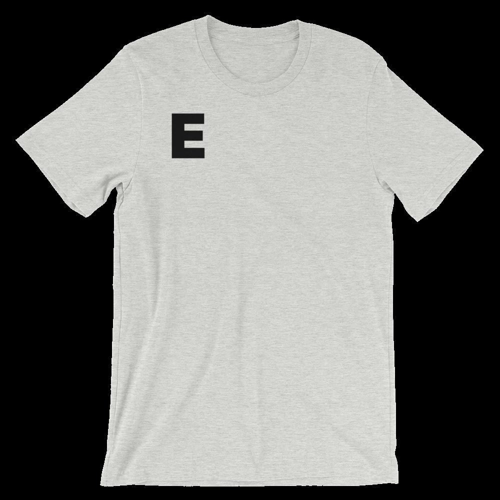 T-Shirt unisexe grisâtre «E»