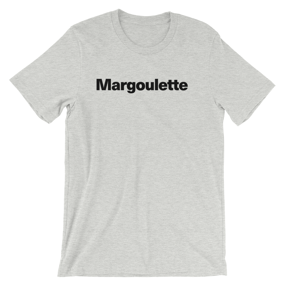 T-Shirt unisexe grisâtre «Margoulette»