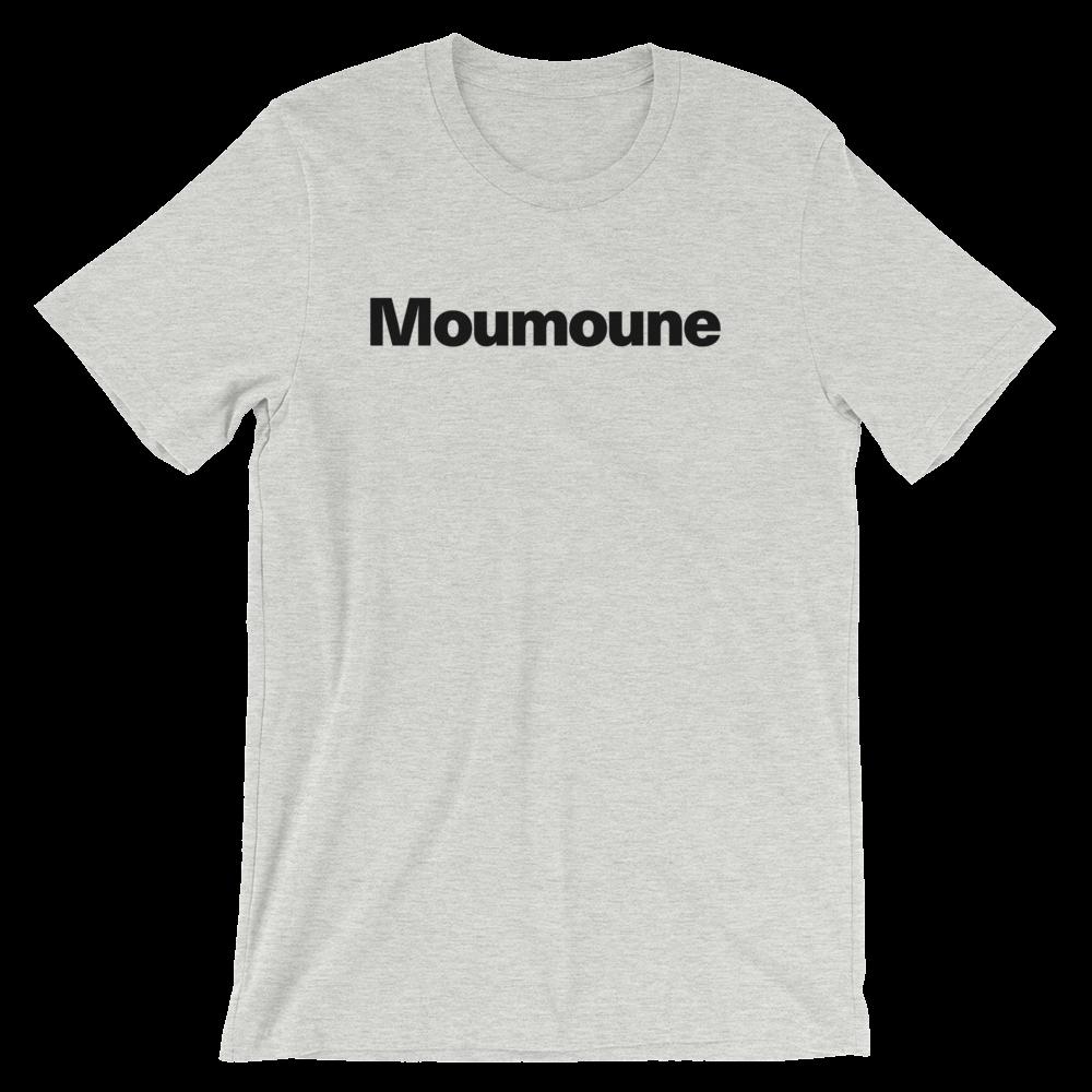T-Shirt unisexe grisâtre «Moumoune»