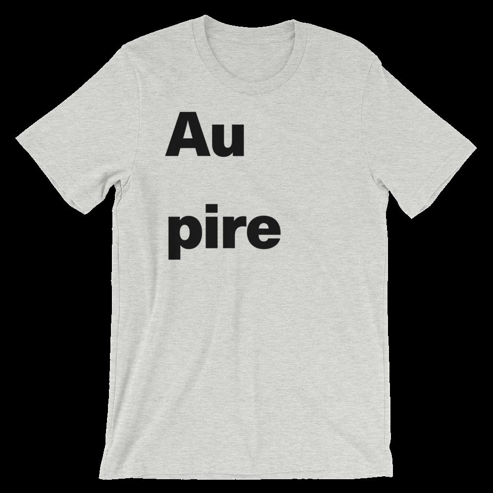 T-Shirt unisexe grisâtre «Au pire»
