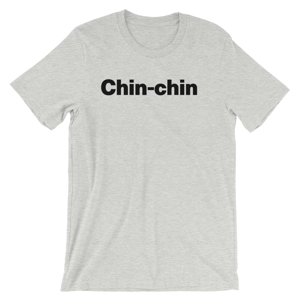 T-Shirt unisexe grisâtre «Chin-chin»