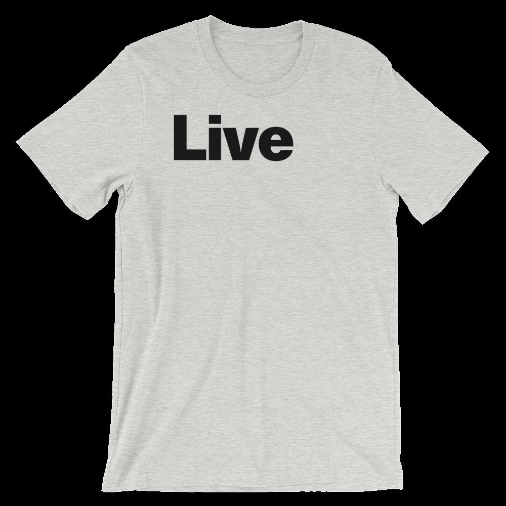 T-Shirt unisexe grisâtre «Live»