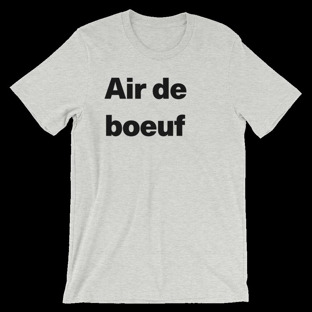 T-Shirt unisexe grisâtre «Air de boeuf»