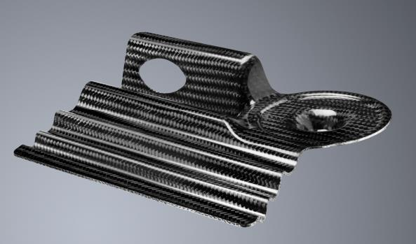 Laser light enables woven parts to be smoothly cut to near net shape. No finishing work is required for the cut edges.