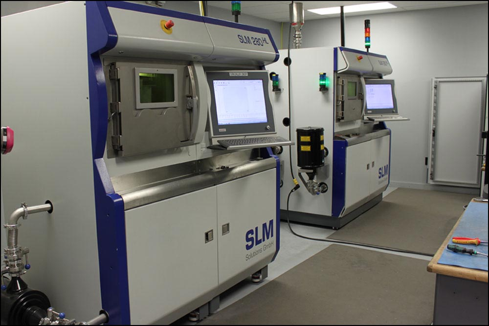 "An SLM 280 HL and an SLM 280 HL ""Twin-Laser"" in Imperial's additive manufacturing laboratory."