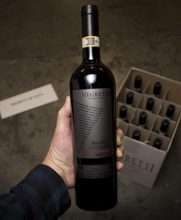 Negretti Barolo Bricco Ambrogio 2012  - Last Bottle
