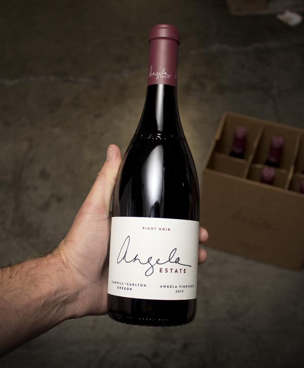 Angela Estate Pinot Noir Angela Vineyard Yamhill-Carlton 2015  - Last Bottle