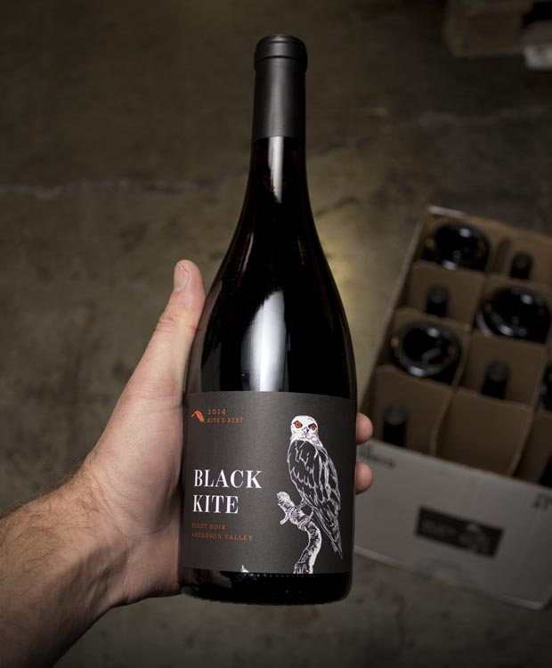 Black Kite Pinot Noir Kite`s Rest Anderson Valley 2014  - Last Bottle