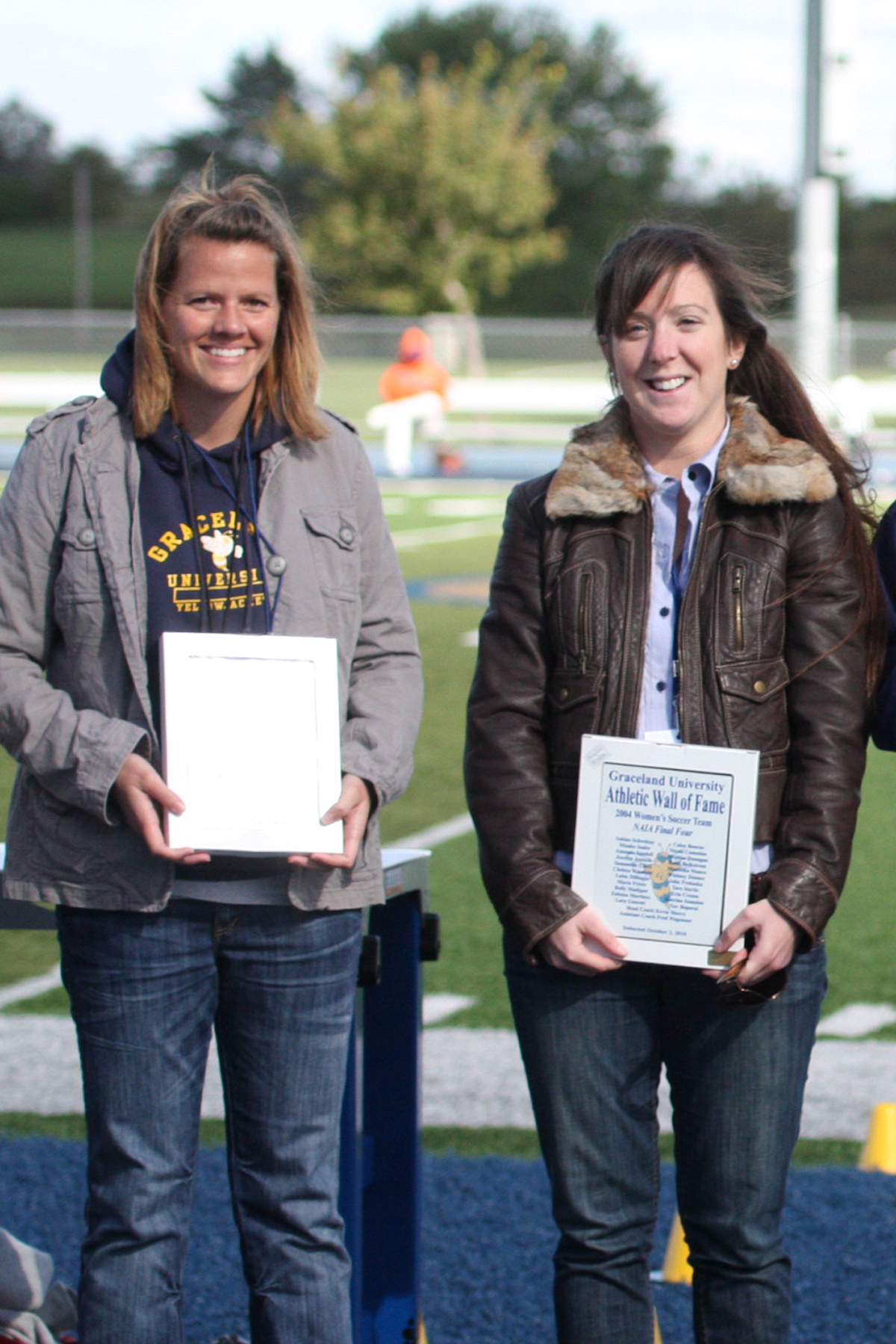 Chelsea Stewart along with Kevin Sherry were honored on Saturday.