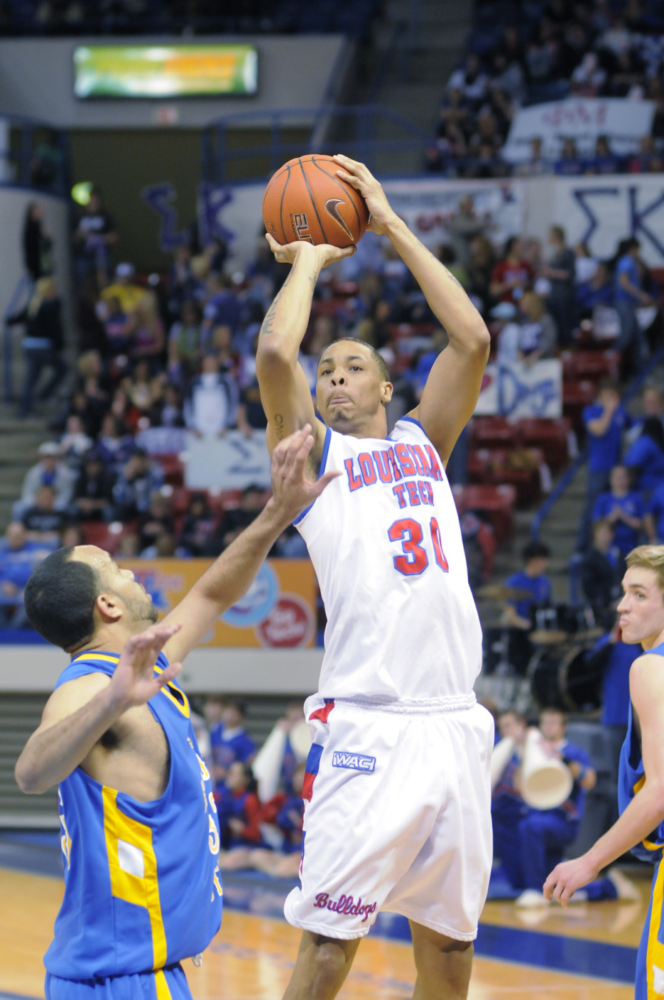 David Jackson, along with Shawn Oliverson, graduated from LA Tech on Thursday.
