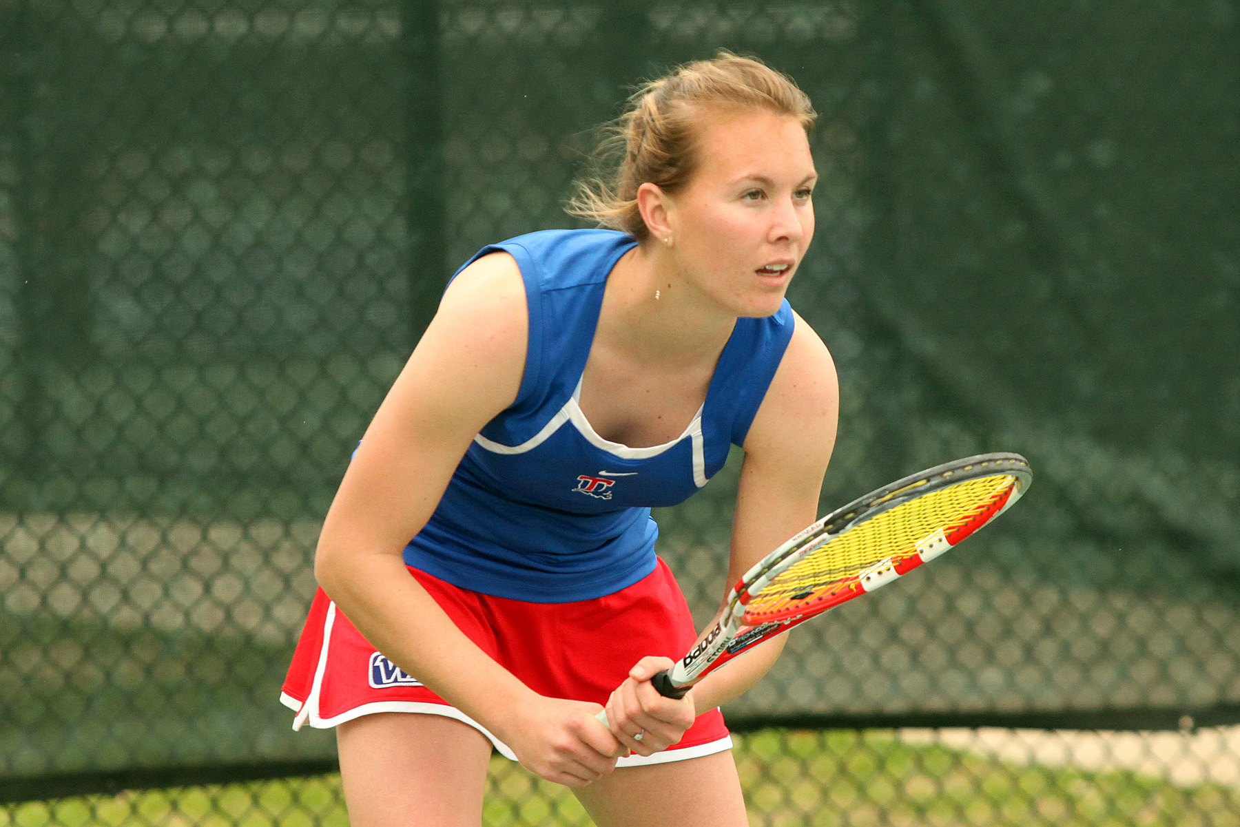 Freshman Alexandra Starkova netted wins in singles and doubles