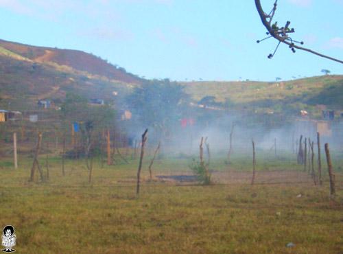 Contaminación en los predios invadidos en la Aldea Santa Rosa.