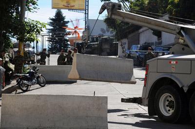 Los bloques de concreto fueron retirados de las calles.
