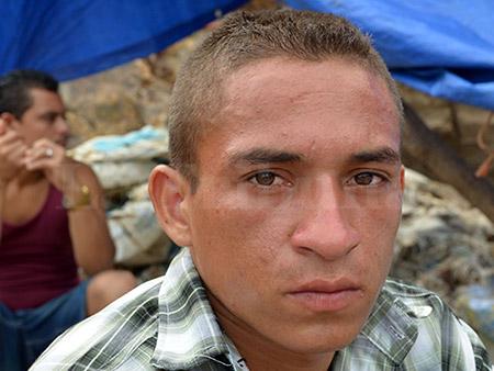 Nelson Rodolfo Zepeda, es el barrenador que colocó el explosivo.