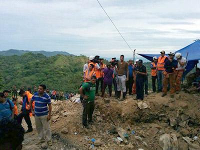 Ordenan cierre de la mina artesanal en San Juan Arriba, El Corpus, al sur de Honduras