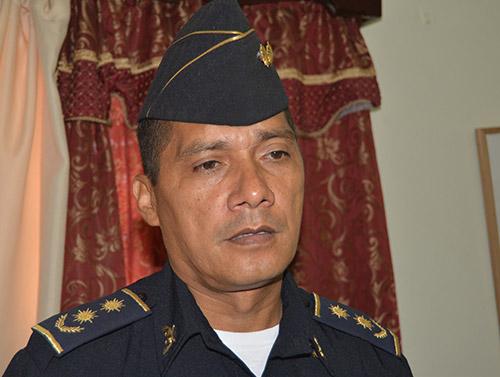 Subcomisionado Daniel Ferrufino, jefe departamental.