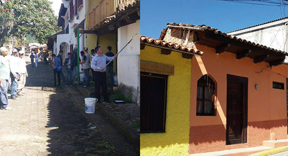 El turístico municipio de Valle de Ángeles ahora luce más colorido.