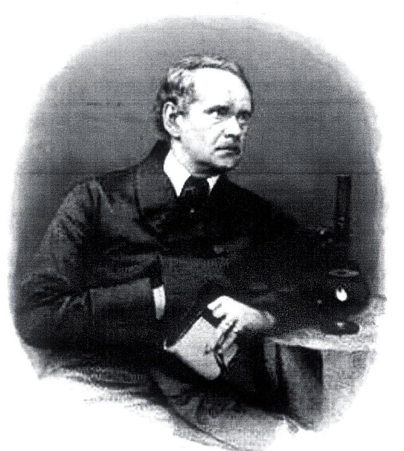 Semblante del científico Matthias Jacob Schleiden (1870).