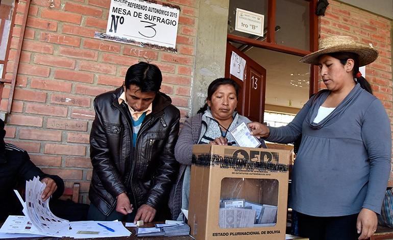 Oposición gana estatutos autonómicos a Evo Morales