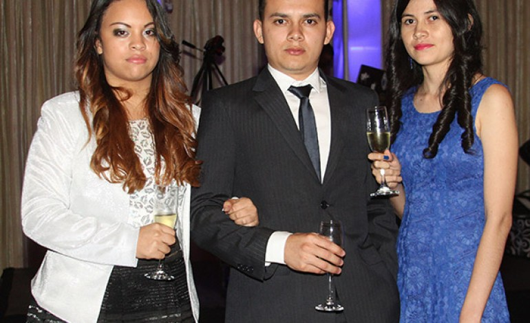 Claudia, Hugo y Sindy Martínez.