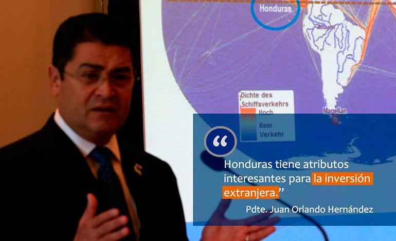El Presidente Hernández destacó la importancia de invertir en Honduras.