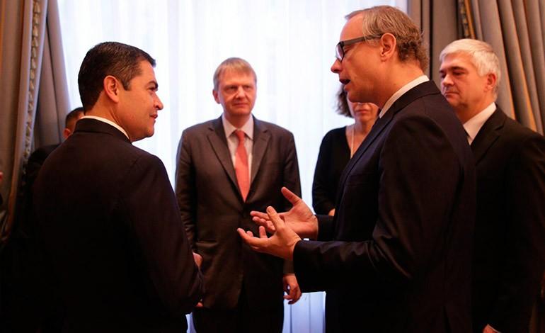 Presidente de Honduras busca en Alemania intensificar la inversión (Galería)