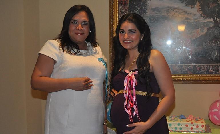 Sonia Fión agasajada por su segunda maternidad