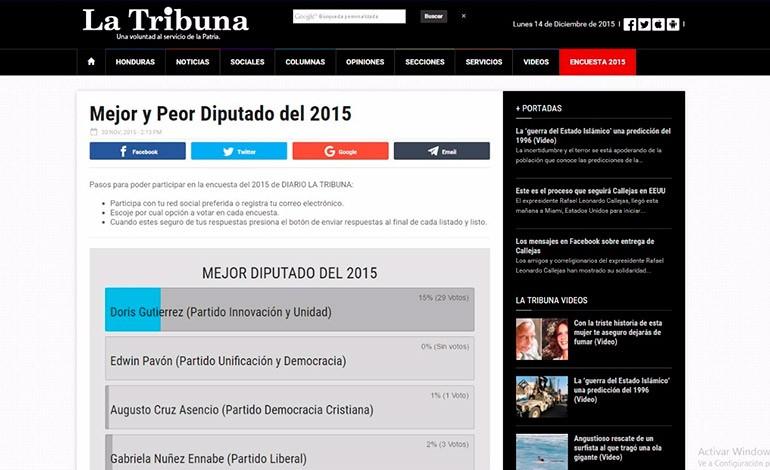 Tendencias perfilan a personajes y sucesos favoritos en la ENCUESTA 2015 de LA TRIBUNA