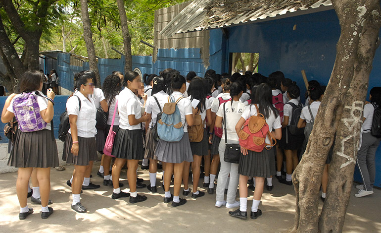 La población estudiantil está viviendo momentos de zozobra por las amenazas de los mareros.