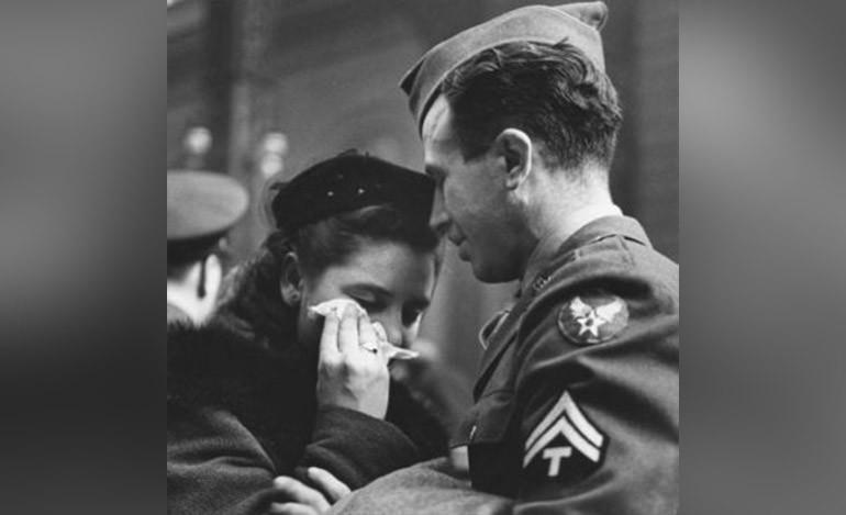 Listo para partir al conflicto bélico. Abril de 1943.
