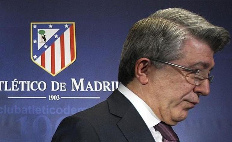 Presidente del Atlético de Madrid defiende el 'fútbol feo' de su equipo