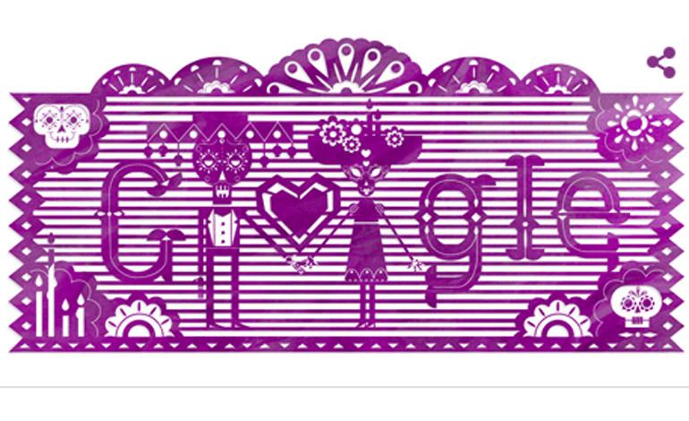 Google dedica su 'doodle' al tradicional Día de Muertos en México