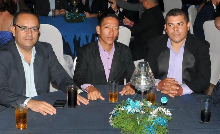 Héctor Dubón, Óscar Quiroz, Andy Duarte y Raúl Ramírez