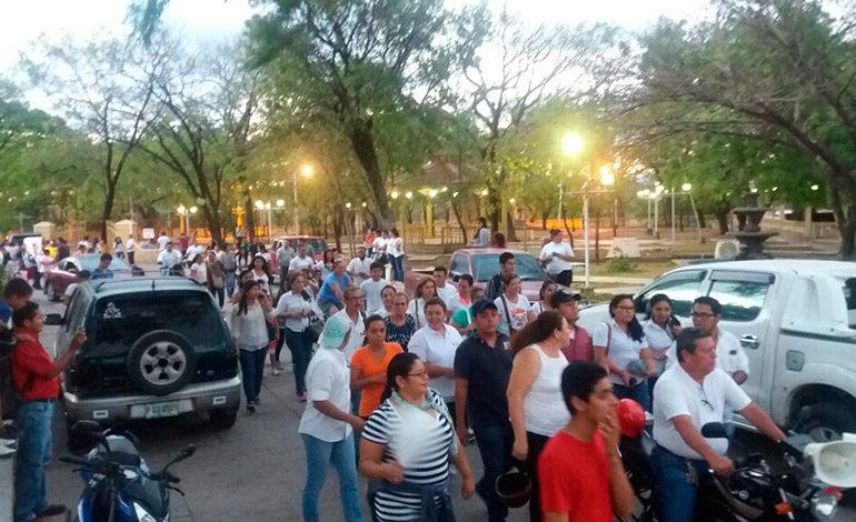 En Choluteca también marcharon por la libertad de Kevin Solórzano