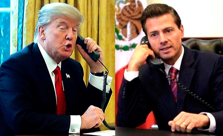 """Trump habló con Peña Nieto con tono """"humillante y ofensivo"""""""