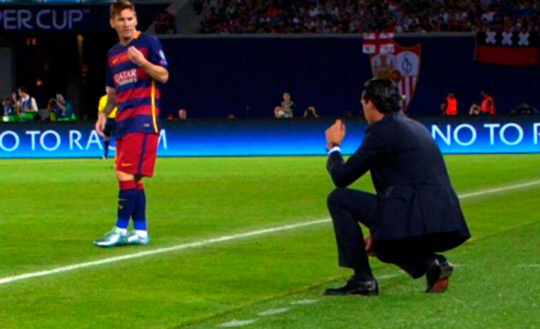 Maldito Barcelona y maldito Messi para Emery