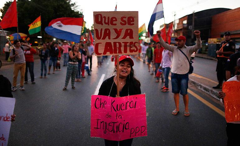 Manifestaciones contra reelección en Paraguay